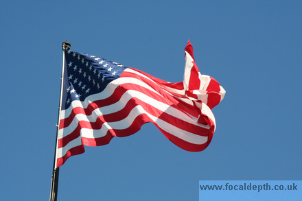 USA - American flag in breeze