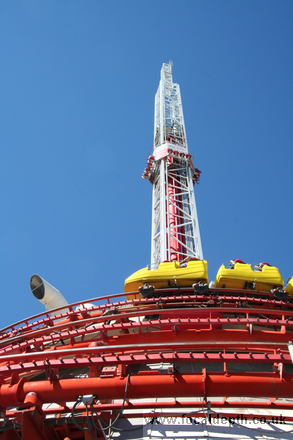 USA - Thrill rides at the Stratosphere Hotel, Las Vegas, Nevada