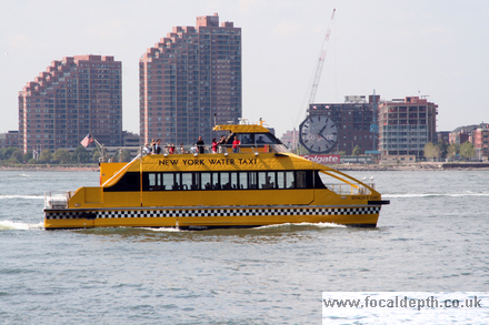 USA - Water taxi on the Hudson River, Manhattan New York