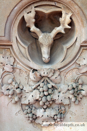 USA - Carved roundels on the Terrace, Central Park, New York