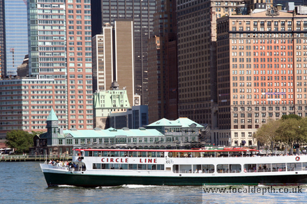 USA - View of Manhattan and a Circle Line Boat, New York