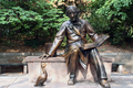 USA - Bronze statue of Hans Christian Anderson in Central Park  New York