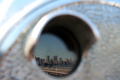 USA - Reflection of Manhattan skyline through telescope on Liberty Island