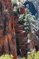 USA - View of Walter's Wiggle from West Rim Trail, past Scouts Lookout, Zion National Park