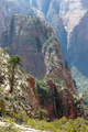 USA - View of Angel's Landing from West Rim Trail above Scouts Landing, Zion National Park