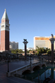 USA - View from the front of The Venetian Resort Hotel, looking past the bell tower towards the Mirage Hotel and Caesar's Palace